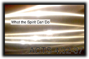What the Spirit Can Do