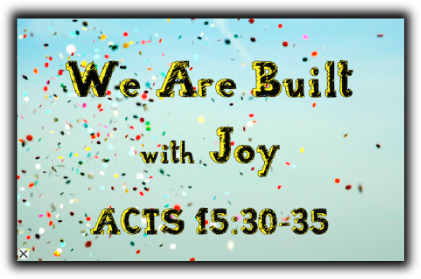 We Are Built with Joy